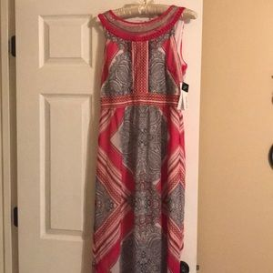 NWT Women's 6 Studio One Pink Lined Maxi Dress